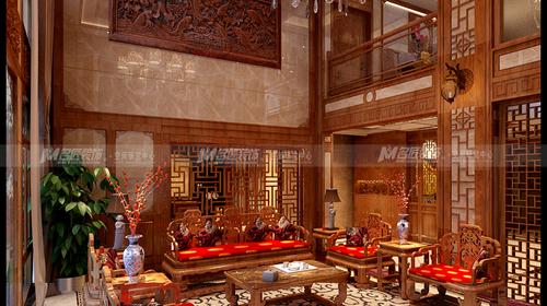 棕榈泉别墅中式设计